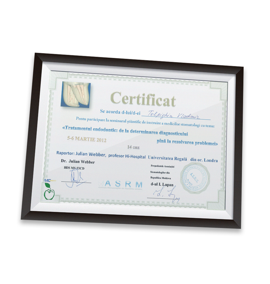 Certificat, Despre Stomatologia Dr. Ungureanu